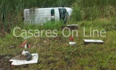 Carlos Casares: Volcó una ambulancia que trasladaba a un paciente desde Smith