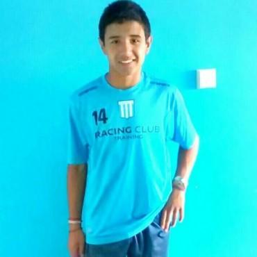 Elias Gutierrez ya participó del primer entrenamiento en Racing
