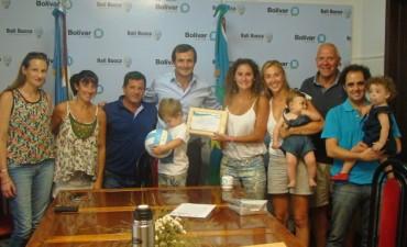 Marianela Garbari fue recibida por el Intendente Municipal