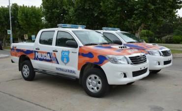 La Municipalidad recibió dos nuevos móviles para la Patrulla Rural