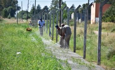 Se está  trabajando en la colocación del alambrado perimetral del Parque Logístico