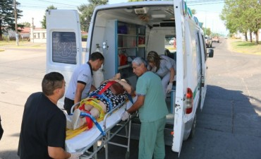 Accidente en Av. Pedro Vignau y Av. Brown: Una moto impactó contra una bicicleta