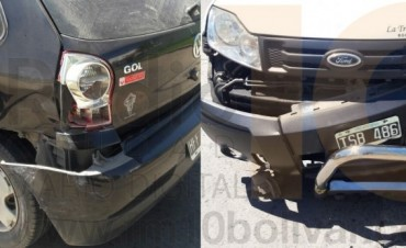 Accidente en Palavecino y Viamonte: Colisionaron dos vehículos