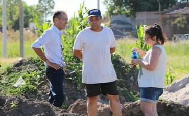 El intendente Pisano recorrió el predio de Lotes con Servicios