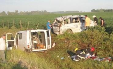 Alberti - Bragado: 15 involucrados en un accidente en ruta nacional 5