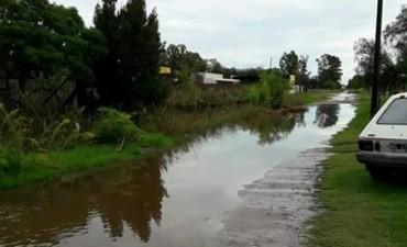 Las lluvias provocaron inconvenientes en localidades del partido