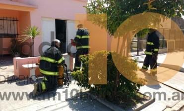 Principio de incendio en una vivienda de Bº Melitona