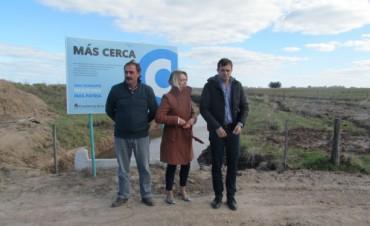El intendente Bucca recorrió las obras rurales