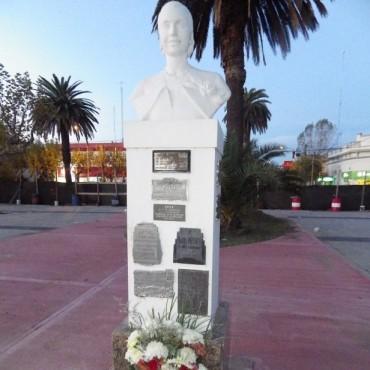 Este jueves 7 se rindió un nuevo homenaje a Eva Perón