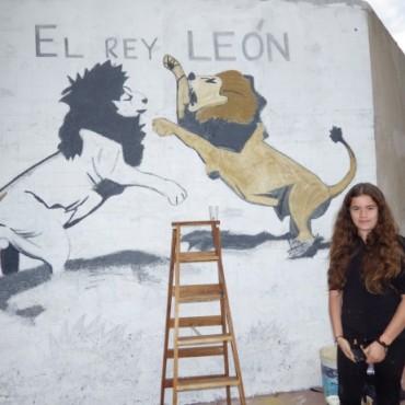 Se está realizando un mural en homenaje a Bautista García Varenna en Rodríguez Peña y Boer