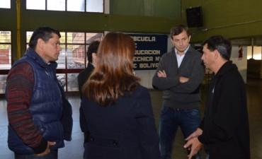 El intendente visitó la Escuela Educación Técnica N°1
