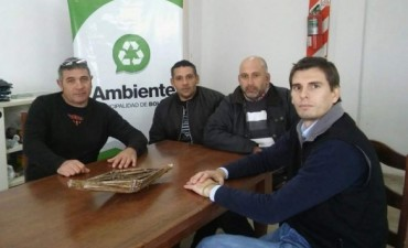 La Planta de Reciclado recibió la visita del titular de la Agencia Ambiental de 25 de Mayo