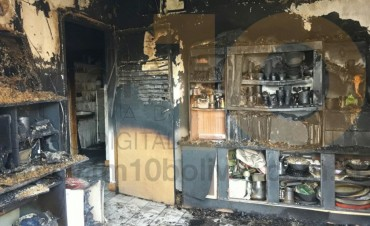 LLAMADO A LA SOLIDARIDAD: Tras un generalizado incendio en una vivienda de Barrio Palermo, una familia necesita la ayuda de la comunidad