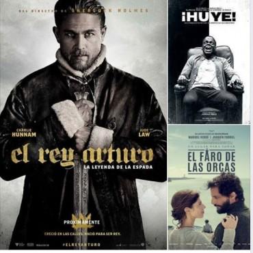 'El Faro de las Orcas', 'El Rey Arturo', y 'Huye' en el Avenida