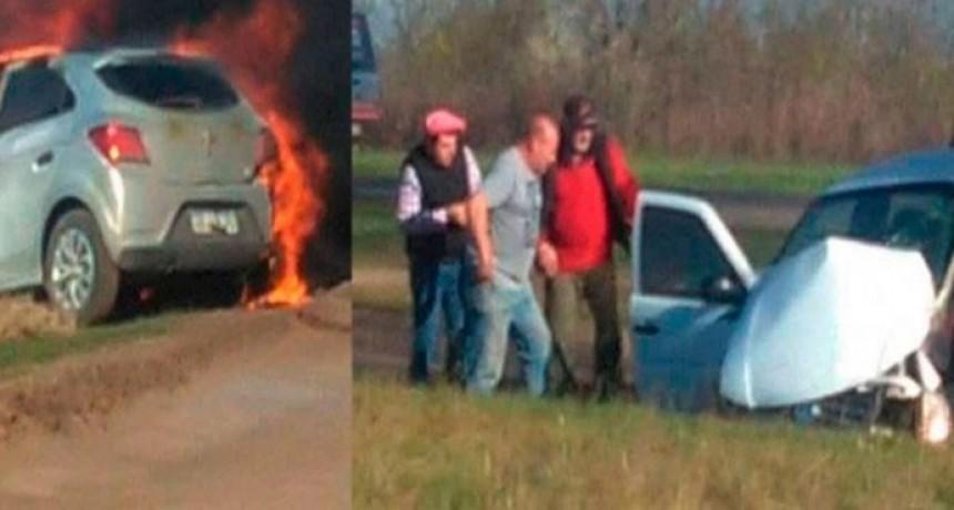 Se conocieron las identidades de los ocupantes del Chevrolet Ónix del fatal accidente sobre ruta 226