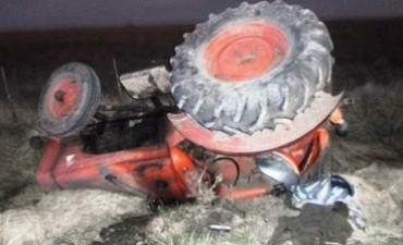 Chivilcoy: Volcó un tractor y falleció el conductor