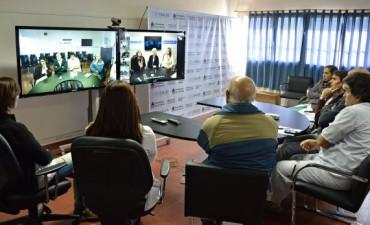 Videoconferencia de CiberSalud en el hospital