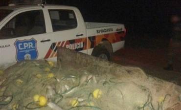 Trenque Lauquen: Secuestraron redes y pescado, producto de actividad clandestina