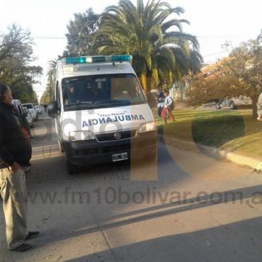 Accidente en el frente de la Escuela N°501: Un hombre y una niña hospitalizada