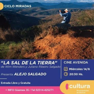 "CINE AVENIDA: Alejo Salgado presenta esta noche ""La sal de la tierra"