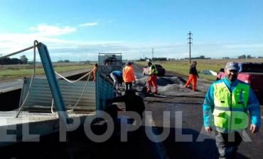 OLAVARRIA: Vuelco de un camión sobre ruta 226