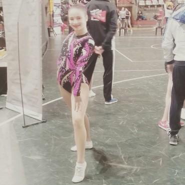 AEROBICA: Nuria compitió en Córdoba y quedó entre las 15 mejores gimnastas del país