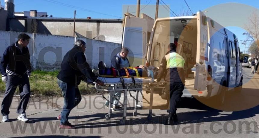 Accidente Falucho y Dorrego: El motociclista resulto con luxación de tobillo