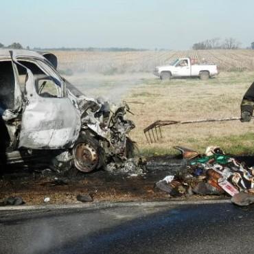 Violento choque: Murió un bolivarense en la Ruta 205