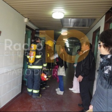 Incendio en una oficina del Capredoni