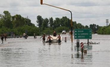Decenas de evacuados por el temporal en la Provincia