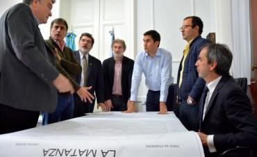 El 'Oso' Díaz juntó a Mosca y los bloques Cambiemos y FR para dar detalles de la división de La Matanza