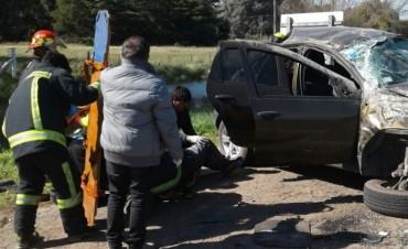 Vuelco en Ruta 226: Tres personas hospitalizadas