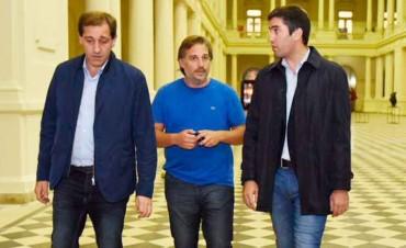 Mosca y Garro recorrieron obras en el Pasaje Dardo Rocha