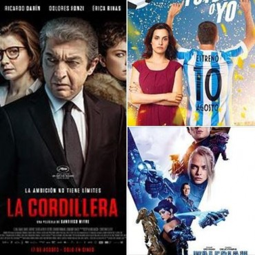 'El fútbol o yo', 'La Cordillera', y 'Valerian y la ciudad de los mil planetas' en el Avenida
