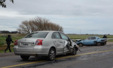 Un herido tras un violento choque sobre la ruta 226 en cercanías de Olavarría