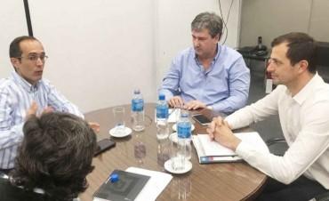 Bucca y Pisano le presentaron un importante proyecto hídrico al ministro de infraestructura
