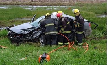 Ruta 226: choque frontal con seis heridos, tres de ellos graves