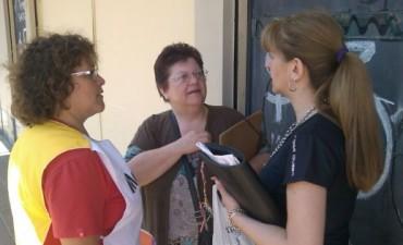 Sandra Santos en acción