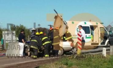 Ruta 226 ingreso a Bolívar: Dos personas fallecieron en un accidente de tránsito