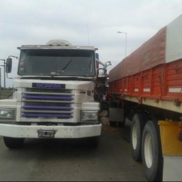 Triple choque de camiones sobre el puente de rutas 5 y 226 sin heridos