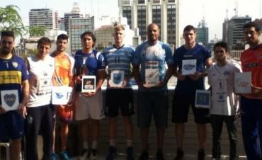 Voley: Junior y Filardi  jugaron con la gente en la presentación de la Liga Argentina de Vóley
