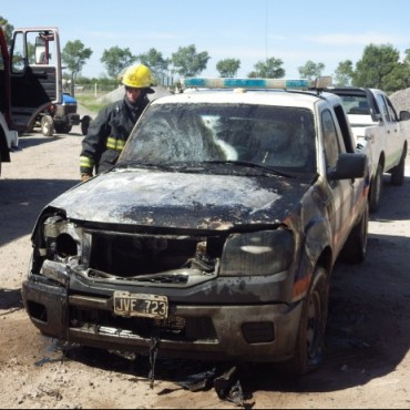Ardió un patrullero en el corralón municipal