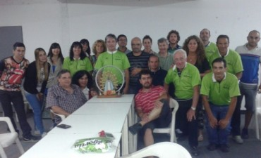 Los peregrinos en bicicleta partieron hoy a las 5.30 desde el Club Estudiantes hacia Luján