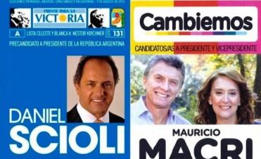 Balotaje: Se utilizará el mismo modelo de boleta que en la elección general