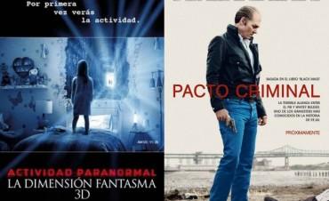 'Pacto Criminal', y 'Actividad Paranormal, La dimensión Fantasma' en el Cine Avenida
