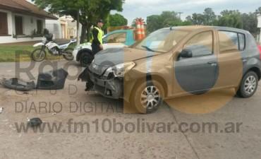 Violenta colisión en Pedro Vignau y Laprida , una niña resultó con golpes y excoriaciones leves