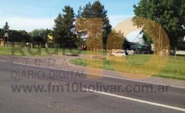 Accidente de tránsito en la Ruta Nacional 226, en cercanías al Club Alem
