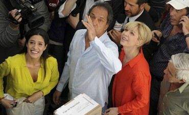 Votó Daniel Scioli: