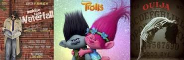 Trolls en 3D, Maldito Seas, Waterfall, y Ouija, El Origen del Mal en el Avenida
