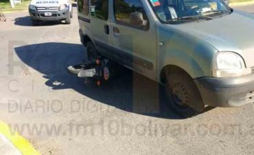 Impactante accidente en las avenidas 9 de Julio y Brown